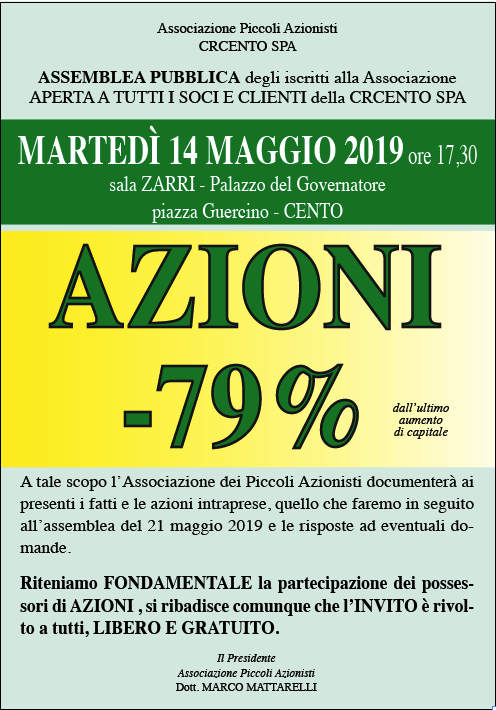 9cd790ac83 ATTENZIONE AL PREZZO DELLE AZIONI CRC - Radiocento.it